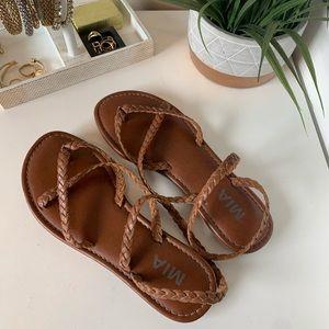 MIA Braided Strappy Thong Sandal